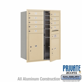 9 Tenant Door 4C Mailbox - Sandstone - Front Loading - Private Access - Double Column