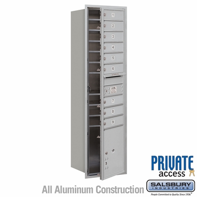Salsbury 3716S-09AFP 4C Mailboxes 9 Tenant Doors Front Loading