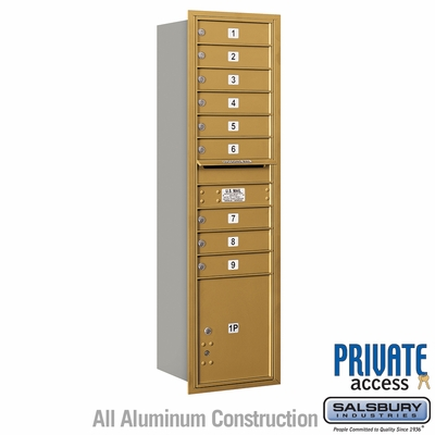 Salsbury 3716S-09GRP 4C Mailboxes 9 Tenant Doors Rear Loading