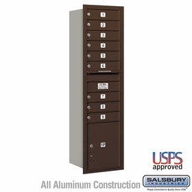 Salsbury 3716S-09ZRU 4C Mailboxes 9 Tenant Doors Rear Loading