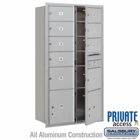 Salsbury 3716D-09AFP 4C Mailboxes 9 Tenant Doors Front Loading