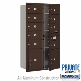 Salsbury 3715D-09ZFP 4C Mailboxes 9 Tenant Doors Front Loading