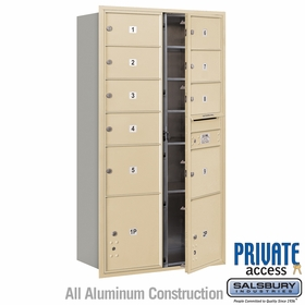 Salsbury 3716D-09SFP 4C Mailboxes 9 Tenant Doors Front Loading