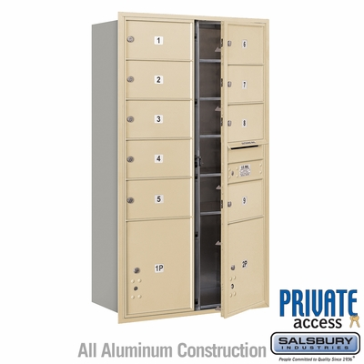 Salsbury 3715D-09SFP 4C Mailboxes 9 Tenant Doors Front Loading