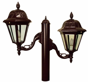 Contemporary Twin Lanterns Lighting Fixture