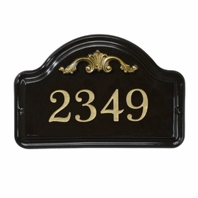 Whitehall Acanthus Ceramic Arch Standard Wall Plaque - One Line