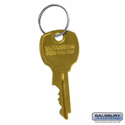 Salsbury 3698 Additional Key Per Lock For 4B+ Horizontal Mailboxes