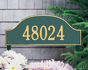Whitehall Admiral Estate One Line Lawn Address Sign