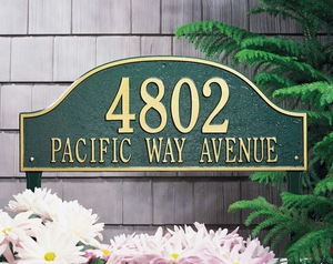 Whitehall Admiral Estate Two Line Lawn Address Sign