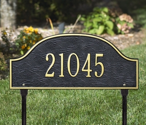 Whitehall Admiral Standard One Line Lawn Address Sign
