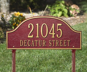 Admiral Standard Two Line Lawn Address Sign