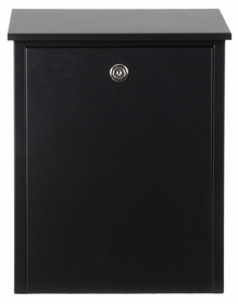 Allux 200 Locking Wall Mount Mailbox in Black