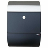 Allux Series Mailboxes Allux 3000 in Black w/Steel