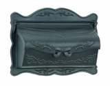 Amco Provincial Wallmount Mailbox in Black