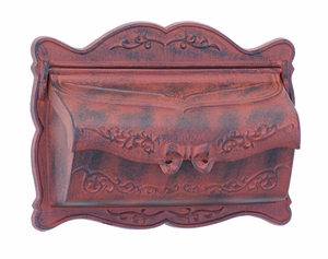 Amco Provincial Wallmount Mailbox in Rust