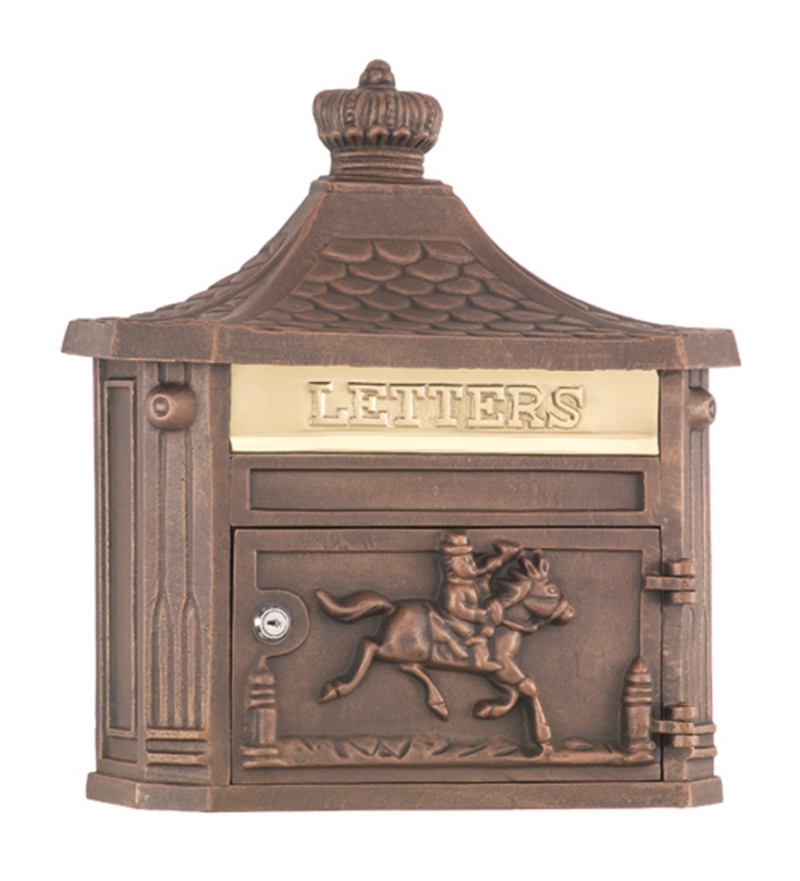 Victorian Wall Mailbox Bronze Amco Residential Mailbox
