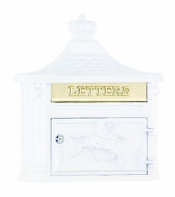 Amco Victorian Wallmount Mailbox in White