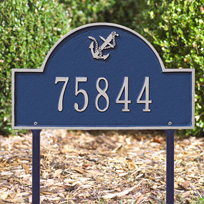 Whitehall Anchor Arch - Standard Lawn Address Sign - One Line