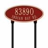 Whitehall Madison Oval - Standard Lawn Address Sign - Two Line