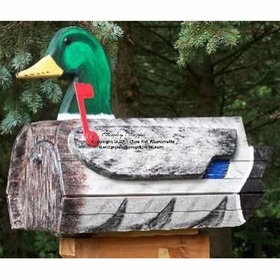 ANIMALS - Mallard Duck Woodendippity Mailbox