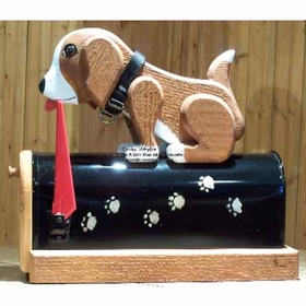 ANIMALS - Postal Pooch Woodendippity Mailbox