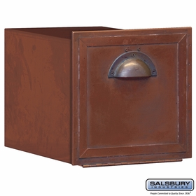 Salsbury 4440 Antique Brass Horizontal Recessed Column Mailbox