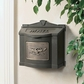 Bronze Wall Mount Mailbox with Antique Bronze Eagle Emblem