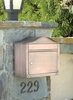 Antique Copper Peninsula Locking Wall Mount Mailbox with Plain Door