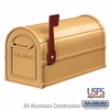 Salsbury 4850A-BRS Antique Rural Mailbox Brass Finish