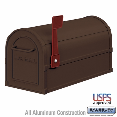 Salsbury 4850A-BRZ Antique Rural Mailbox Bronze Finish