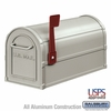 Salsbury 4850A-NIC Antique Rural Mailbox Nickel Finish