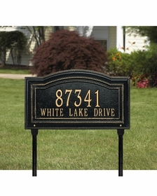 Arbor - One Line Standard Lawn Address Sign - 1764AC