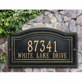 Whitehall Arbor Standard Wall Plaque - Two Line - 1763AC