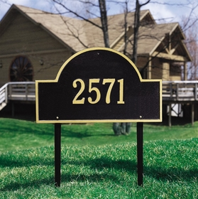 Whitehall Arch Marker Estate One Line Lawn Address Sign