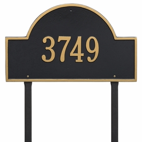 Arch Marker Estate One Line Lawn Address Sign