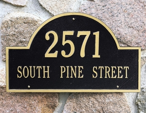 Arch Marker Estate Two Line Wall Plaque