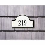 Whitehall Arch Marker Petite One Line Wall Plaque