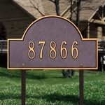 Whitehall Arch Marker Standard One Line Lawn Address Sign