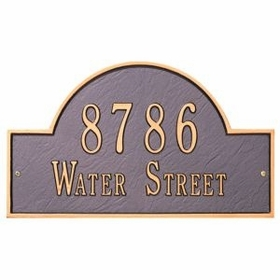 Whitehall Arch Marker Standard Two Line Wall Plaque