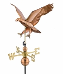 Attack Eagle - Polished Copper Weathervane