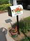 Bacova Gardens 10431 Sweetheart Wreath Residential Post Mount Strong Box Mailbox