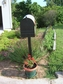 Bacova Gardens 10334 Three Topiaries Residential Post Mount Strong Box Mailbox