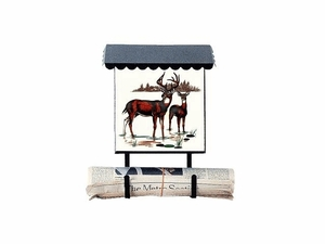 Bacova Gardens 10016 Deer Vertical Wall Mounted Mailbox