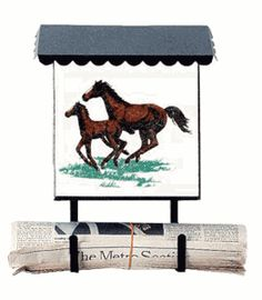 Bacova Gardens 10036 Running Horses Vertical Wall Mounted Mailbox