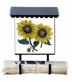 Bacova Gardens 10303 Sunflowers Vertical Wall Mounted Mailbox