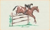 Bacova Gardens Jumping Horse Residential Post Mount Mailbox
