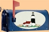 Bacova Gardens Lighthouse Beach Oval Mailbox