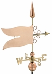 Banner Weathervane - Polished Copper
