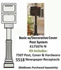 SINGLE Locking Curbside KIT Basic In-Ground w Cover and Newspaper Receptacle - Geneva & Oasis Jr. Only (Mailboxes purchased separately)