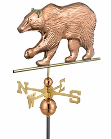 Bear Weathervane - Polished Copper
